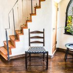 California Shaker Chair with Black and Tan Western Patterned Shaker Tape Seat