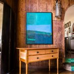 Brawley Made Hand Crafted Henderson Sideboard Made of Cherry and Curly Maple in Gorgeous California Living Room