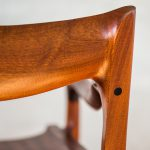 Back Detail of Brawley Made Hand Carved Maloof Settee Reproduction