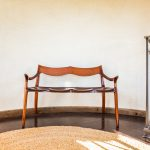 Brawley Made Hand Carved Maloof Settee Reproduction In-Situ