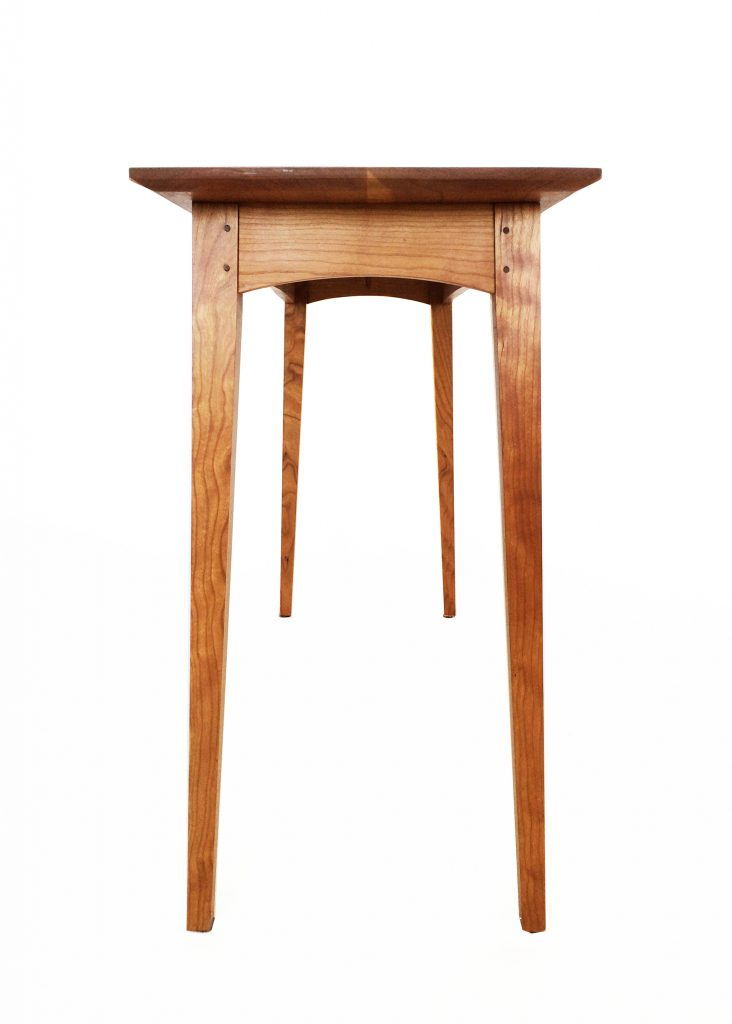 ... End View Of Brawley Made Walnut And Cherry Boyden Hall Table ...