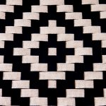 Detail of California Shaker Chair Western Inspired Woven Seat of the Brawley Made Hand Crafted Ebonized Cherry Wood Shaker Chair