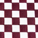 Checkered Shaker Chair. Burgandy and White Checkered Seat Pattern