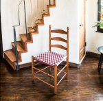 Checkered Shaker Chair 3/4 View