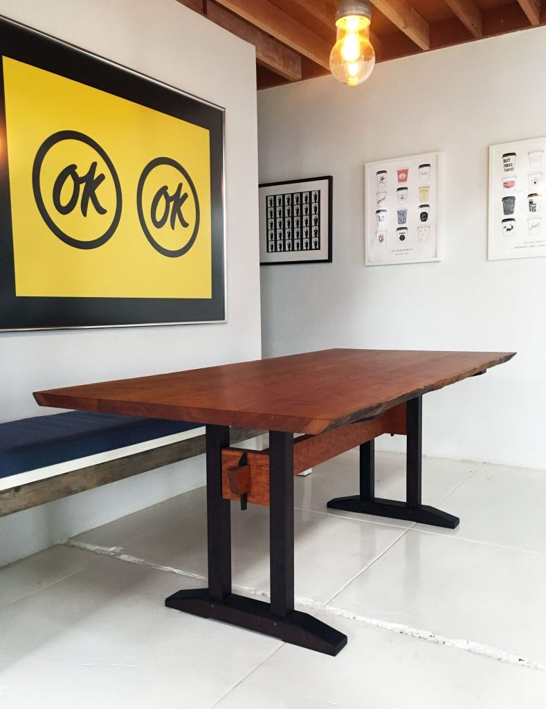 Benson Trestle Table by Brawley Made
