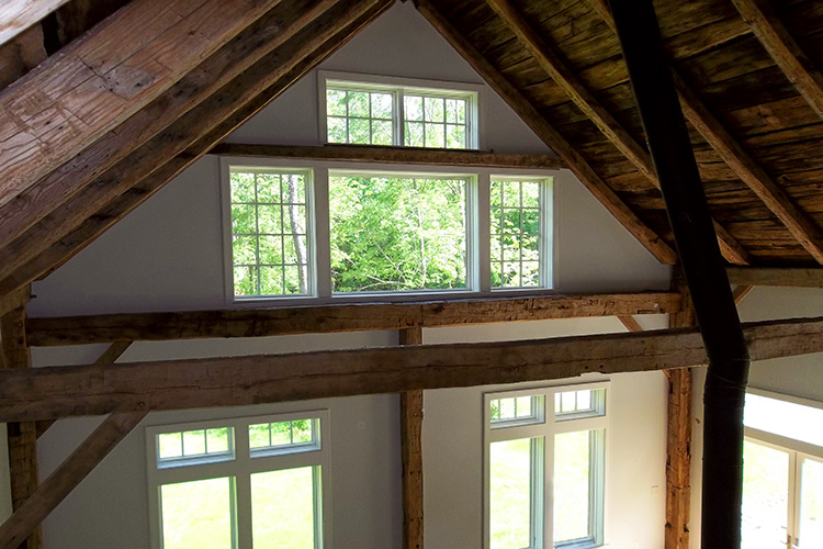 Brawley Made Timber Great Room in Massachussetts