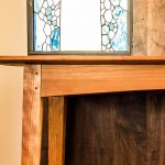 Brawley Made Cherry Boyden Hall Table in Stained Glass Hall