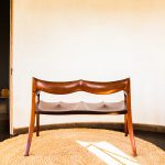 Back of Brawley Made Hand Carved Maloof Settee Reproduction