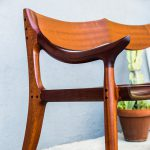 Brawley Made Hand Carved Maloof Settee Reproduction Leg and Arm Detail