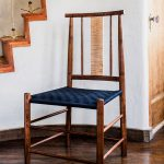 Brawley Made Hand Crafted Maple and Walnut Salisbury Shaker Inspired Chair with Black Woven Shaker Tape Seat