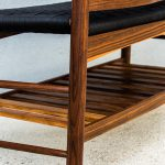 Slatted Storage Rack on the Brawley Made Salisbury Entry Bench made of Walnut and Spalted Curly Maple