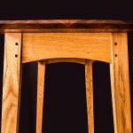 End Detail of the Brawley Made Walnut and Quartered Oak Boyden Hall Table