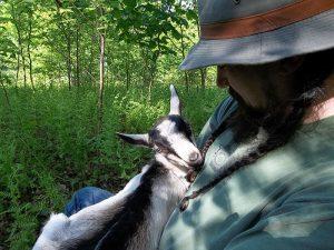 Brawley Made Holding Baby Goat