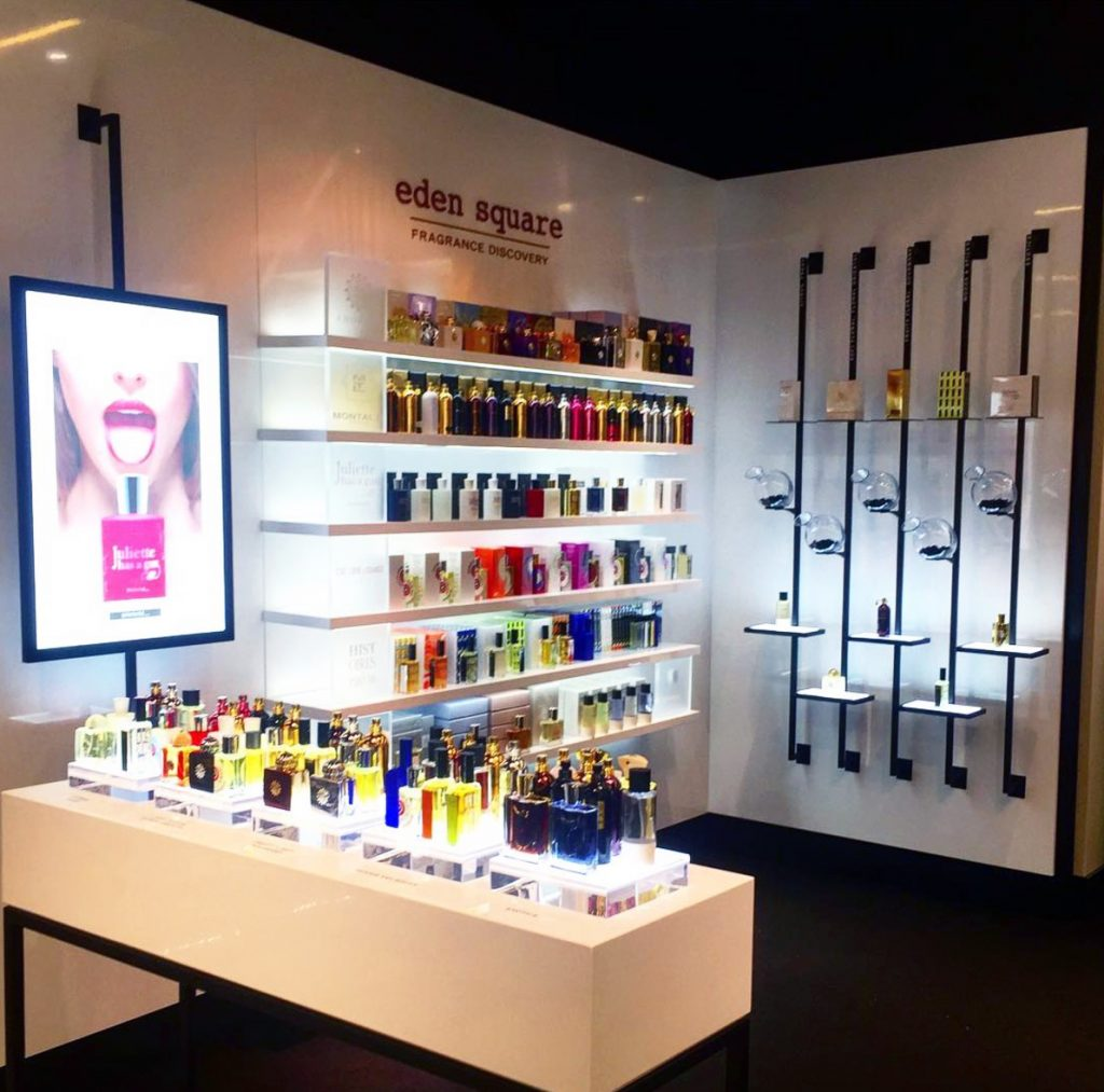 Eden Square Fragrance Bloomingdales Store Install